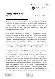 Presse-Information - Familiengerechte Kommune