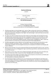 Basisvereinbarung für die Betreuung von - Die Villa - Verein für ...