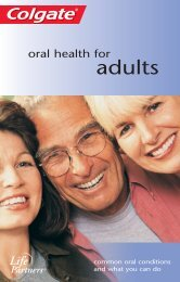 Oral Health For Adults - Colgate