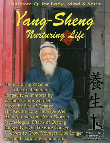 Click to download the entire September issue as a PDF - Yang-Sheng