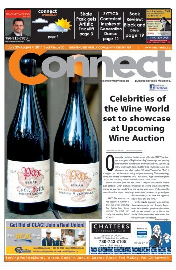 Vol 7 Issue 30 July 29 - August 4.indd - Fort McMurray Wine Auction