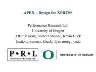 APEX – Design Proposal for XPRESS - The STE||AR Group