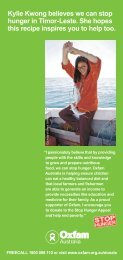 Kylie Kwong believes we can stop hunger in Timor ... - Oxfam Australia