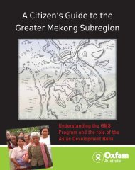 A Citizen's Guide to the Greater Mekong Subregion - Oxfam Australia