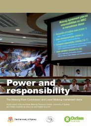 Power and responsibility - University of Sydney