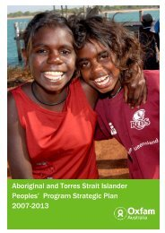 Program Strategic Plan - Oxfam Australia