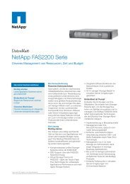 NetApp Datenblatt - NetApp FAS2200 Serie - COMPAREX