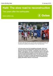 Haiti: The slow road to reconstruction - Oxfam International