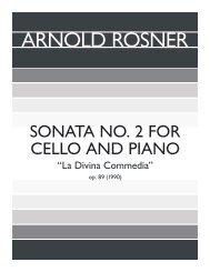 """Rosner - Sonata No. 2 for Cello and Piano, """"La Divina Commedia"""", op. 89"""