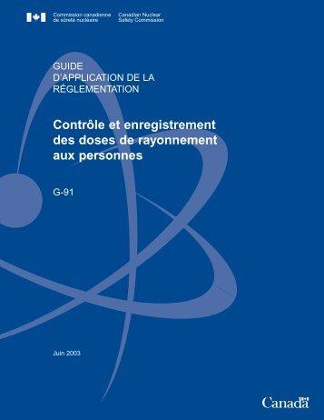 Contrôle et enregistrement des doses de rayonnement aux ... - UQAC