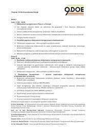 Program IX DOEnergii - Energia i Budynek