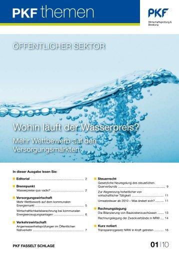 Wohin läuft der Wasserpreis? - PKF Fasselt Schlage