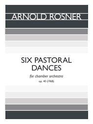 Rosner - Six Pastoral Dances, op. 40