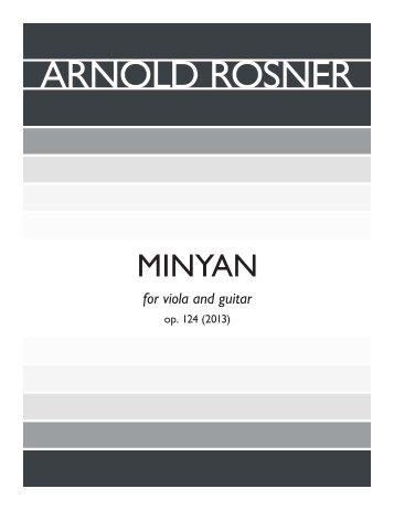 Rosner - Minyan, op. 124