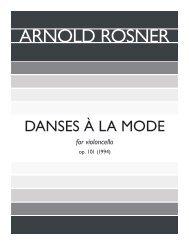 Rosner - Danses à la mode, op. 101