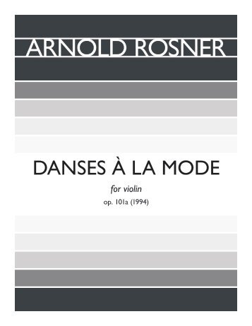 Rosner - Danses à la mode, op. 101a