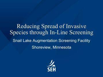 Reducing Spread of Invasive Species through In-Line Screening