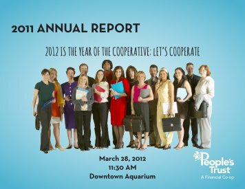 2011 ANNUAL REPORT - People's Trust Federal Credit Union