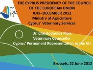 THE CYPRUS PRESIDENCY OF THE COUNCIL OF THE ... - FESASS