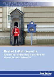 Hosted E-Mail Security. - Pan Dacom Networking AG