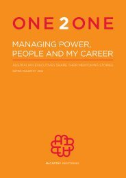 Managing Power, People and My Career - McCarthy Mentoring