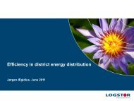 Efficiency in district energy distribution