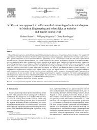 KISS—A new approach to self-controlled e-learning of selected ...