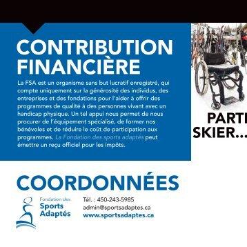 CONTRIBUTION FINANCIÈRE COORDONNÉES