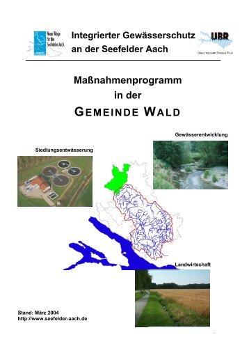 Wald - Aktionsprogramm Seefelder Aach