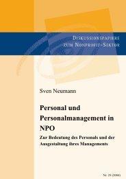 Personal und Personalmanagement in NPO - Aktive Bürgerschaft e.V.