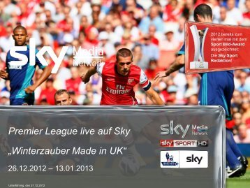 Premier League live auf Sky - Sky Media Network