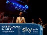 der 4. mira award - Sky Media Network