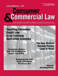 Fall 2012 - Consumer Law Section, State Bar of Texas