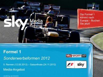 Formel 1 Sonderwerbeformen 2012 - Sky Media Network