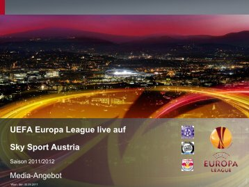 UEFA Europa League live auf Sky Sport Austria - Sky Media Network