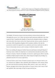 Republic of Cameroon Position Paper - ViaMUN