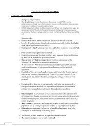 Amnesty International at ViaMUN 1) Ethiopia – Human Rights ...