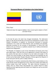 Permanent Mission of Colombia to the United Nations - ViaMUN