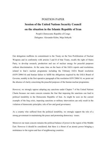 position paper of republic of the