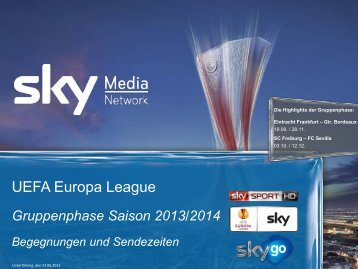 UEFA Europa League - Sky Media Network