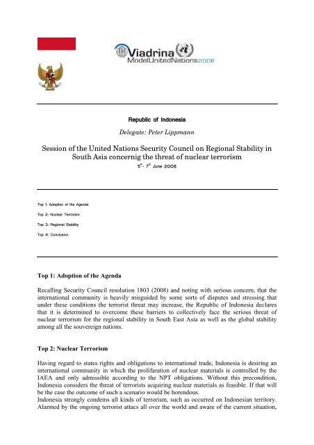 Republic of Indonesia - ViaMUN