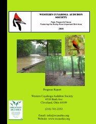 Volunteers - Western Cuyahoga Audubon Society