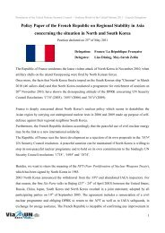 Policy Paper of the French Republic on Regional Stability ... - ViaMUN