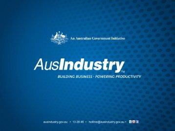 AusIndustry Presentation