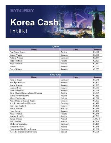 Korea Cash - Synergy WorldWide
