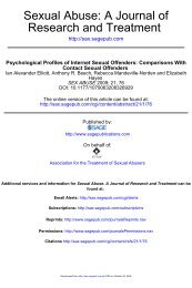 Psychological Profiles of Internet Offenders Compared to Contact ...