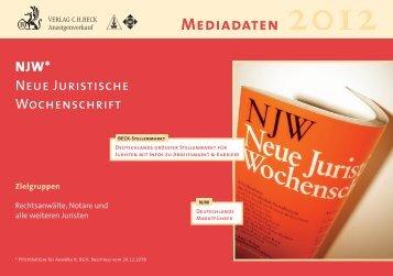 NJW - Verlag C. H. Beck oHG