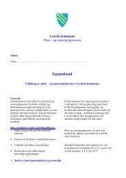 og omsorgstjenesten - Lenvik kommune