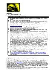 activiteitenprogramma VBRLL