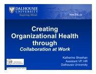Creating Organizational Health th h through - Benefits Canada